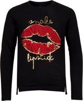 Name it Meisjes T-Shirt Lange Mouwen - Black - Maat 134-140
