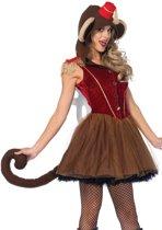 Wind Up Monkey kostuum - S - Bruin - Leg Avenue