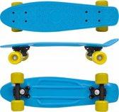 Pennyboard Skateboard (INCL sporthandschoenen) Blauw geel Retro - Flipgrip board