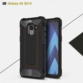 Samsung Galaxy A8 (2018) Armor Hybrid Case - Zwart