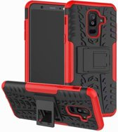 Schokbestendige Back Cover - Samsung Galaxy A6 Plus - Rood