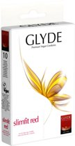 Glyde Ultra Slimfit - Rood - 10 stuks - Condooms
