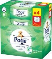Page Aloë Vera - 4x 42 stuks - Vochtig Toiletpapier Navulling - Multipack