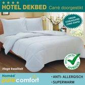 Homéé - Hotel Dekbed 400g. Carré doorgestikt -1 persoons- 140x200cm
