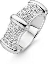 TI SENTO Milano Ring 12045ZI - maat 17,25 mm (54) - Zilver witgoudverguld