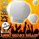 10x Jumbo wensballon
