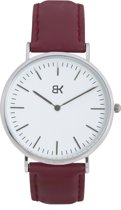 BK AMSTERDAM - Classic White Singel Horloge