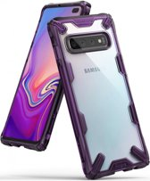 Ringke Fusion X Samsung Galaxy S10 Plus Hoesje Paars