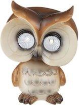 Globo Lighting Solar Owl - Bruin plastic - Doorschijnend plastic - IP44