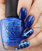 o.p.i. nail lacquer, better be blue