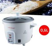 Rijstkoker Met Stomer - Mini Elektrische Rijstpan - Rijst Stoomkoker Stoompan - 0,6L 300W