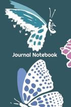 Journal Notebook: Blank Lined Notebook Journal 6'' x 9'' 120 Pages, Cute Journal To Write In For Butterfly Lovers