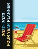 2020 - 2023 Four Year Planner: Summer Beach Monthly Calendar, Planner, Notebook and More!