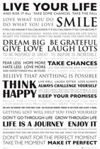 Poster Live your Life quotes