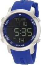 Horlogeband Police PL12898JS-02 Silicoon Blauw 22mm