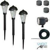 Luxform LED-tuinlampenset Lille 12 V 3 st
