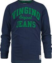 Vingino Jongens T-shirt - Dark Blue - Maat 176