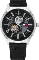 Tommy Hilfiger TH1791641 Horloge  - Leer - Zwart - Ø  44 mm