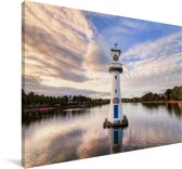 Een klokkentoren in het Europese Cardiff Canvas 60x40 cm - Foto print op Canvas schilderij (Wanddecoratie woonkamer / slaapkamer) / Europese steden Canvas Schilderijen