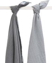 Jollein Duo Multidoek hydrofiel 115x115cm Duo grey (2pack)