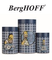 "3-delige koekjes dozen set  ""The Simpsons""   Blauw geruit"