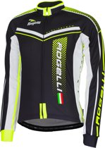 Rogelli Gara Mostro Fiets Jersey - Maat XL - Mannen - zwart/wit/geel