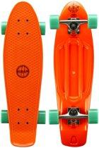 """Nijdam Kunststof Skateboard 28"""" - Flipgrip-board - Rood/Mintgroen"""