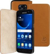 Bugatti Booklet Case Oslo voor Samsung Galaxy S7 - Bruin