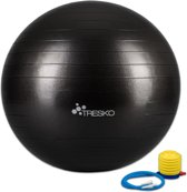 Yogabal zwart 75 cm, Trainingsbal, Pilates, gymbal