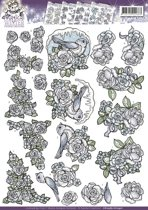 3D Knipvel - Yvonne Creations - Magical winter - Flowers