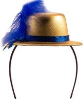 Metallic goud mini hoedje