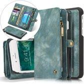 CASEME iPhone 7 Plus / 8 Plus Vintage Lederen Portemonnee Hoesje - met backcover (Gro