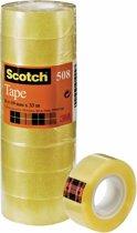Scotch® General Purpose Tape, Transparant, Toren, 19 mm x 33 m, 8 Rollen/Toren