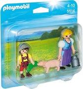 Playmobil Boerin en zoon - 5514