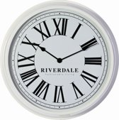 Riverdale Wandklok Time - Wit - 68 cm