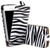 iPhone 5 / 5S flip case cover hoesje Zebra