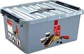 Sunware Q-line Schoenpoetsbox - Met inzet - 6 l - zwart/metallic/transparant