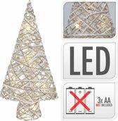 Kerstboom mini  met 10 Ledlampjes - werkt op batterijen