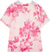 Douwe linnen zomerjurkje met fluo bloemenprint