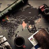 Afbeelding van Wereldkaart, kraskaart, Scratch Map, met hoofdstad van idere land speelgoed