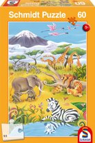 Schmidt puzzel Animals of the Savanne 60 stukjes