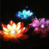 Solar Power Floating Waterproof Lotus Flower Lamp Light met zonnepaneel, 1 zonnepaneel met 3 lotusbloemlampen