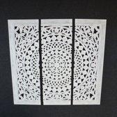 Wanddecoratie paneel whitewash 200x200cm