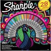 Sharpie 2058158 markeerstift 28 stuk(s) Multi kleuren Fijne punt