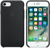 Apple iPhone 7 en iPhone 8 Silicone Hoes -  Zwart