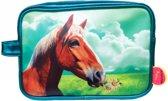 Kunstboer toilettas Paard blauw