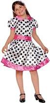 Jaren 50 polkadot jurkje voor meiden 120-130 (7-9 jaar)