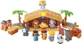 Fisher-Price Little People Kerststal Met Lichtgevende Engel - Speelfigurenset