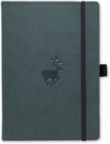 Dingbats A5+ Wildlife Green Deer Notebook - Dotted