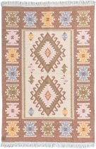 Kaira Vloerkleed - 120x180 - Donker Oranje - by Okashi Heritage